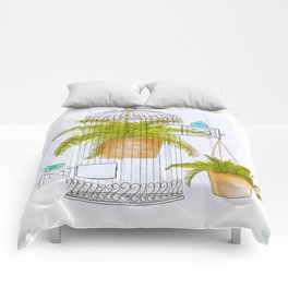 Birds and Ferns Comforters