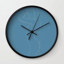 Minimal feminine figure N2 Wall Clock