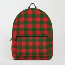 Plaid (red/green) Backpack