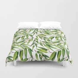 Exotic greenery pattern Duvet Cover