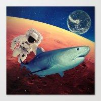 shark Canvas Prints featuring Shark by Cs025