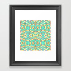 Electric Pattern Framed Art Print