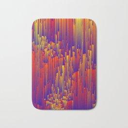 Fiery Rain - Pixel Abstract Art Bath Mat