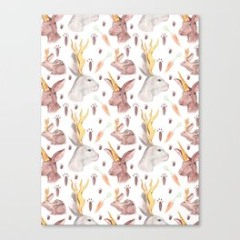 Mythical Rabbits Canvas Print