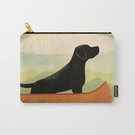 Black Lab Labrador Retriever Dog Canoe Ride Carry-All Pouch