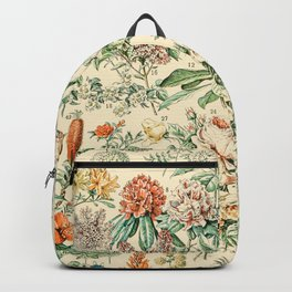 Wildflowers and Roses // Fleurs III by Adolphe Millot 19th Century Science Textbook Artwork Backpack