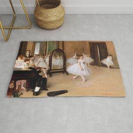 The Dancing Class by Edgar Degas Rug