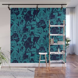 Dapper Dog_Teal Wall Mural