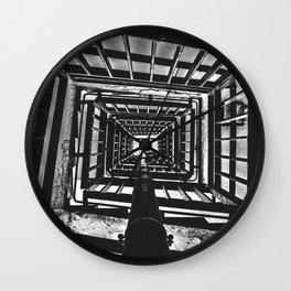 Up the staircase @ Park Hill, Sheffield Wall Clock