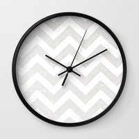 silver Wall Clocks featuring SILVER by Monika Strigel