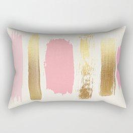 Brush Strokes (Rose/Gold) Rectangular Pillow