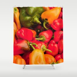 Kitchen Still Life: Hot Peppers Shower Curtain