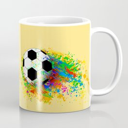 Football soccer sports colorful graphic design Coffee Mug