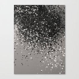 Silver Gray Glitter #1 #shiny #decor #art #society6 Canvas Print