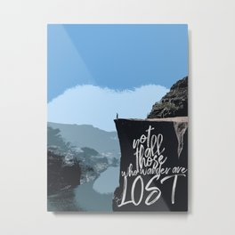 Not All Those Who Wander Are Lost-Norway Cliff Metal Print
