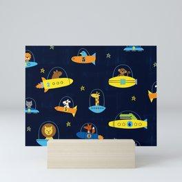 Space Race Mini Art Print