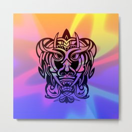 Vicious Tribal Mask 010 Metal Print