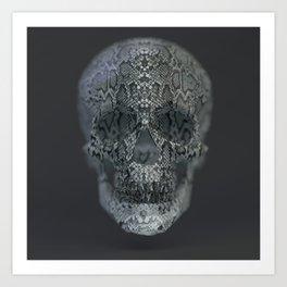 Snake Skull Art Print