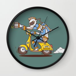 Space Scooterman Wall Clock