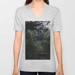 left without being seen Unisex V-Neck