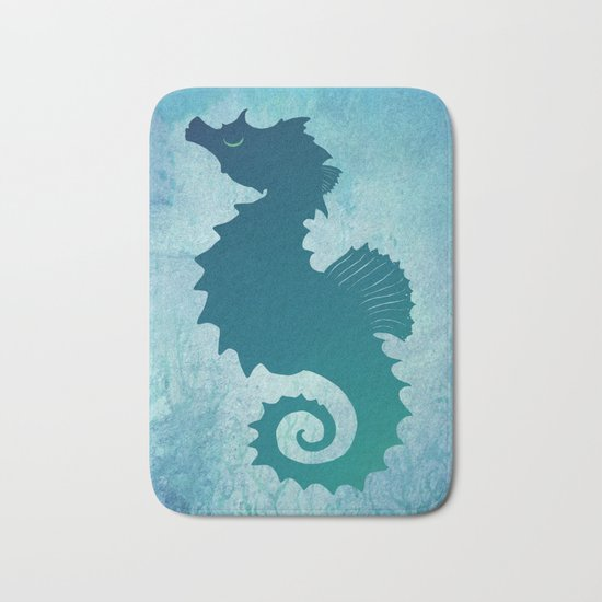 Seahorse of a Different Color ~ Marine Life Bath Mat