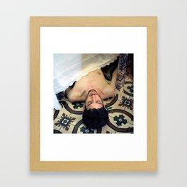 Sleep here, dear King Lear, in this little garden of Paradise Framed Art Print