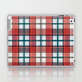 Colorful red grey plaid . Laptop & iPad Skin