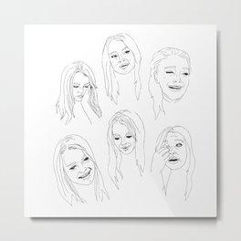 Crying Face Lindsay Lohan Metal Print