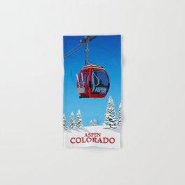 Aspen Colorado Ski Resort Cable Car Hand & Bath Towel