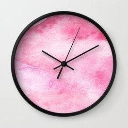 Crimson Landscape Wall Clock