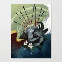 """dragon age Canvas Prints featuring Dragon Age - Qunari - Betrayal by Barbara """"Yuhime"""" Wyrowińska"""