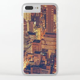 New York New York! Clear iPhone Case