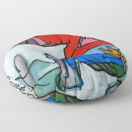 Contemplating Collective Consciousness by Amos Duggan 2013 Floor Pillow