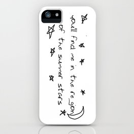 you'll find me in the region of the summer stars (niall) iPhone Case