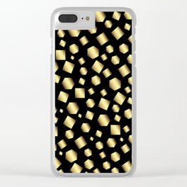 Gold Metallic Clusters Clear iPhone Case