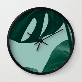 Monstera Delicious Wall Clock