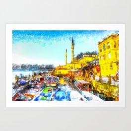 Istanbul Art Art Print