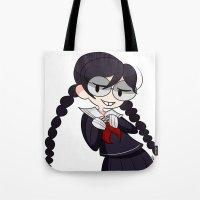 dangan ronpa Tote Bags featuring Book Girl by dartty