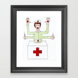 Mrs. fuck vaccine Framed Art Print