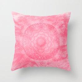 FLORAL MANDALA PINK Throw Pillow