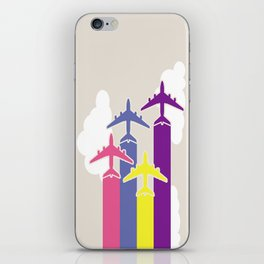 Colorful airplanes iPhone Skin