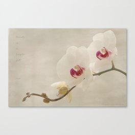 a thing of beauty Canvas Print