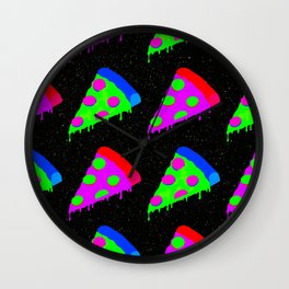 Pizza Invasion Wall Clock