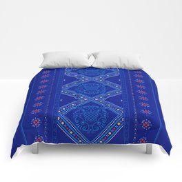 Sweet Winter Blues Comforters