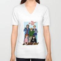 breakfast club V-neck T-shirts featuring The Breakfast Club by Dasha Borisenko