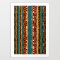 tribal Art Prints featuring Tribal by Klara Acel