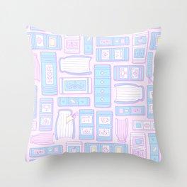 Books - Kawaii Throw Pillow
