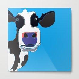 Cow in the Blue Sky Metal Print