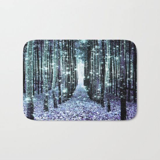 Magical Forest Lavender Aqua/Teal Bath Mat