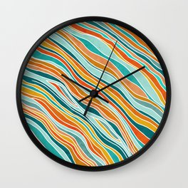 Tulum Summer Abstract Wall Clock